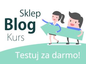 blog, sklep, kurs test