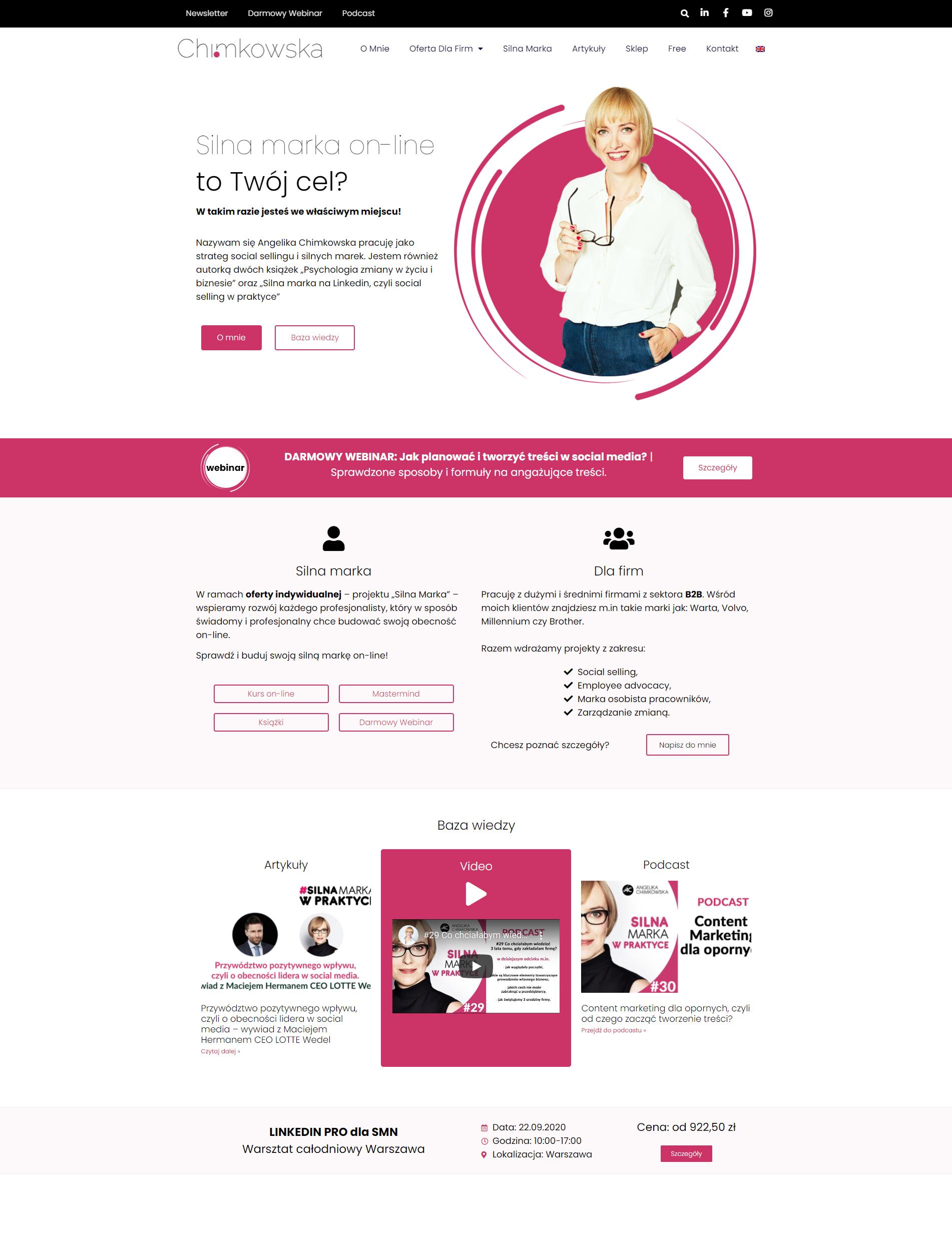 portfolio strony www wordpress